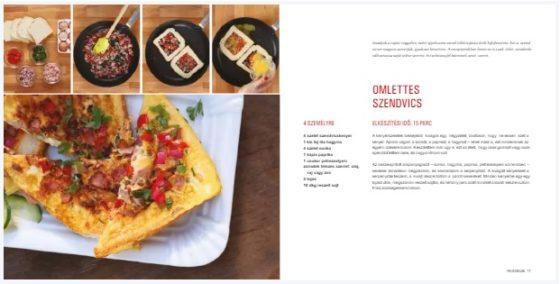 omlettes szendvicsű